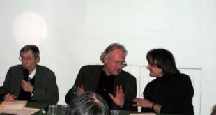 Axel Honneth discutant avec les membres de D&S